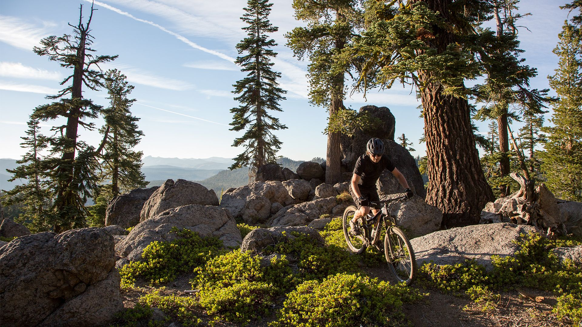 mountain bike in lake tahoe
